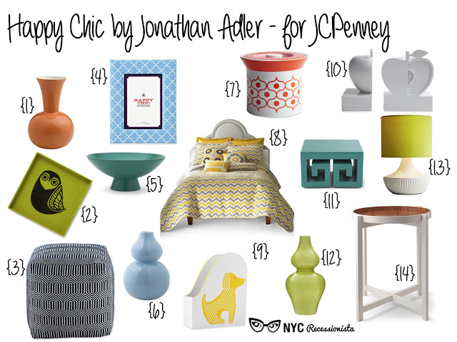 happy chic by jonathan adler for jcpenney nyc recessionista. Black Bedroom Furniture Sets. Home Design Ideas