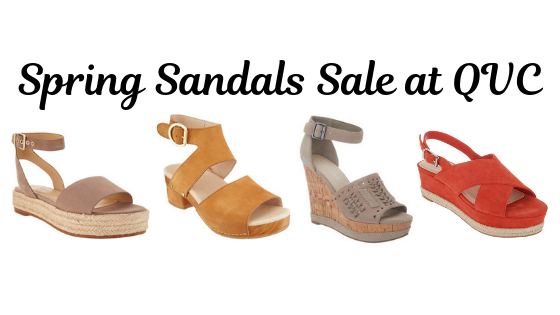 qvc sandals on sale